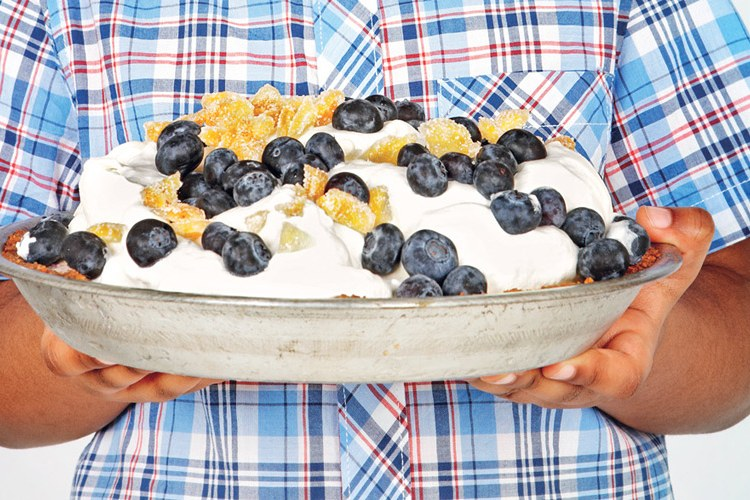 Peach-Blueberry Ice Cream Pie