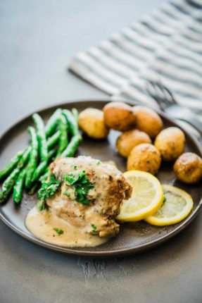 Instant Pot Chicken Thighs with Lemon Sauce